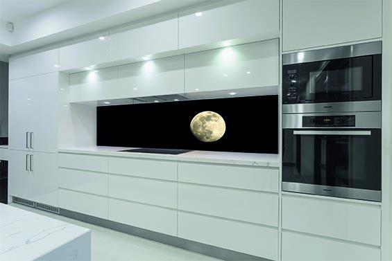 Küchenrückwand mit Foto und LED beleuchtung - Küchenrückwandglas